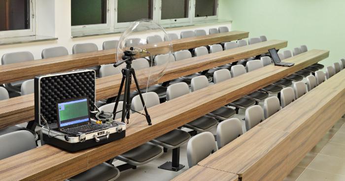parabolic mic attack in classroom